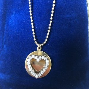 Jewelry - Diamond Heart Pendant Necklace